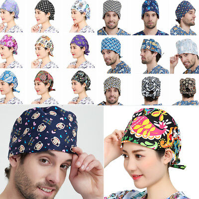 Lots Women's Men Doctor/Nurse Printed Cap Scrub Surgery Medical Surgical Hat/Cap](Nurses Hat)