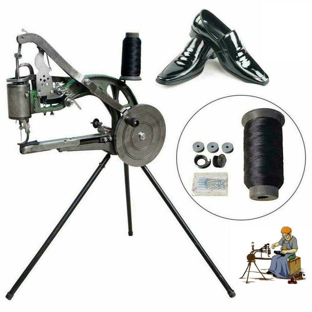 Hand Cobbler Shoe Repair Machine Dual Cotton Nylon Line Leather Sewing Tools
