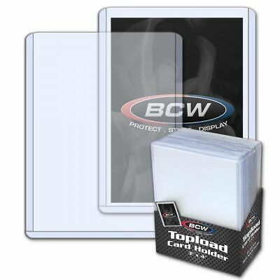 "BCW (100 - 4 PACKS OF 25) 3""x4"" TRADING CARD TOPLOADERS + 100 PENNY SLEEVES(1Pk"