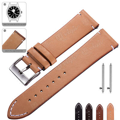 Fossil Leather Band (Genuine Leather Watch Band 18 20 22mm Wrist Strap For Fossil Quick Release)
