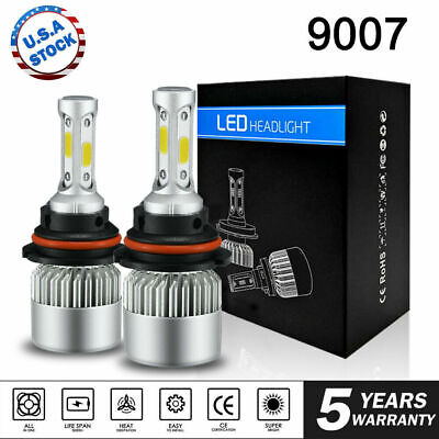 9007 HB5 LED Headlight Conversion Kit 1900W 285000LM HI LOW Beam Bulbs 6000K