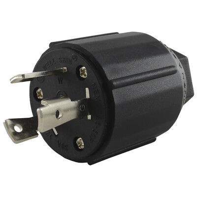 Conntek 60311 L5-30p 3 Prong Locking 30 Amp 125 Volt Male Plug Black