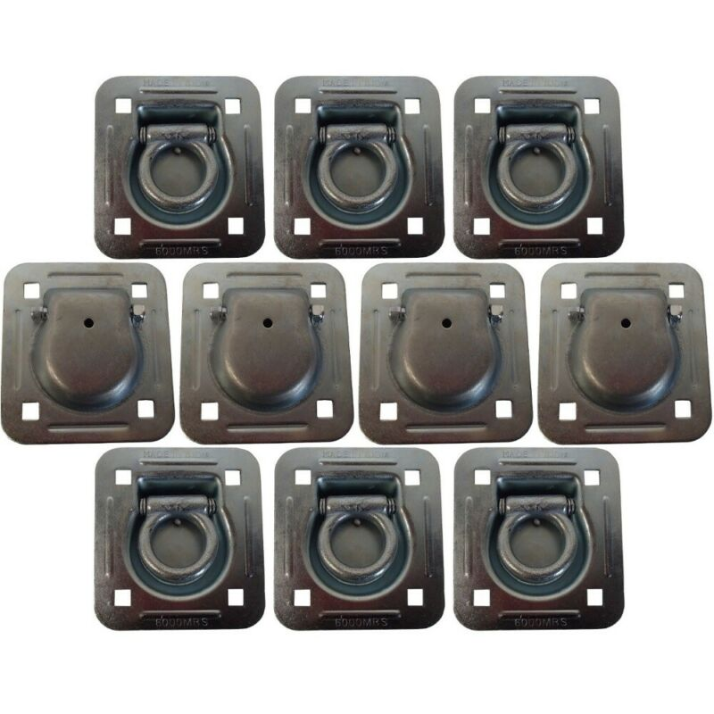 RDR5 Set of 10 Cargo Truck Trailer 6000# MBS Anchor Tie Down Recessed D-Rings