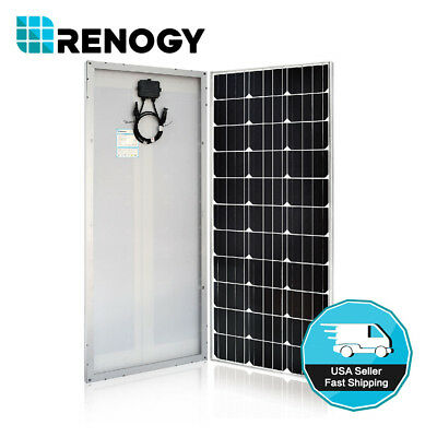 Renogy 100W Watt Slim Design Solar Panel Mono 12V Volt Off Grid Battery Charge