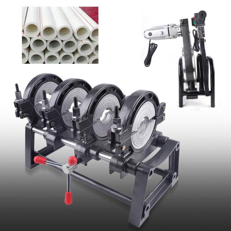 "4 Clamps Pipe Fusion Welder Manual Hot-melt Butt Welding Machine 2.48""-6.30"""