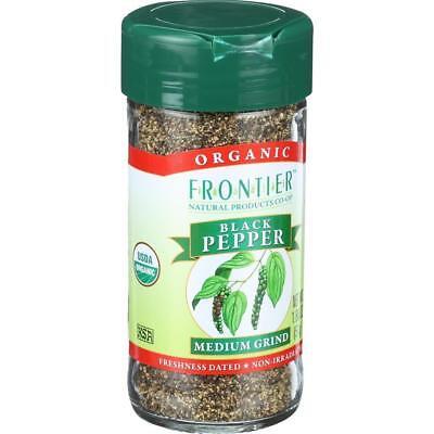 Frontier Herb-Organic Medium Grind Black Pepper, Pack of 2 ( 1.80 oz bottles )
