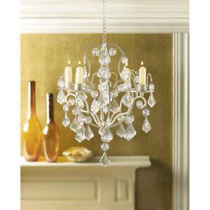 Wedding hanging chandeliers ebay crystal chandelier lighting ivory baroque acrylic hanging candle holder wedding mozeypictures Gallery