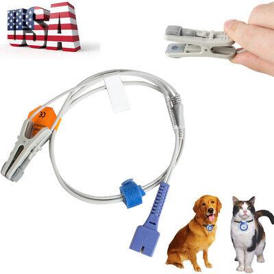 9pins Oximax Veterinary Spo2 Ear Lingual Sensor Nellcor Animal Medical Tool Us
