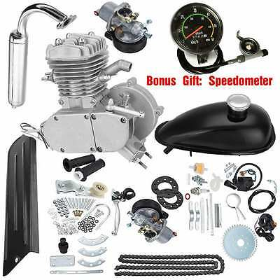 80cc 2-Stroke Motor Engine Kit Set Gas For Motorized Bicycle Cycle Bike Upgraded