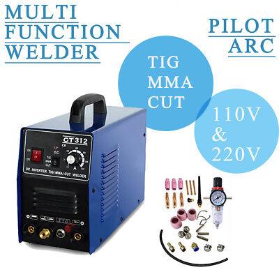 Pilot Arc Plasma Cutter Mma Tig Welder - Tosense Ct312p 3 In 1 Machine