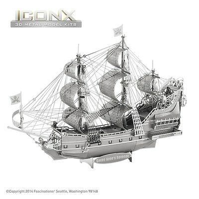 Fascinations Metal Earth Queen Anne's Revenge Ship ICONX Laser Cut 3D Model