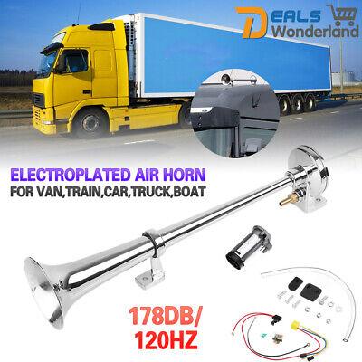 178 DB Single Trompete Air Horn Kompressor Kit für Van Train Auto LKW Boot 12