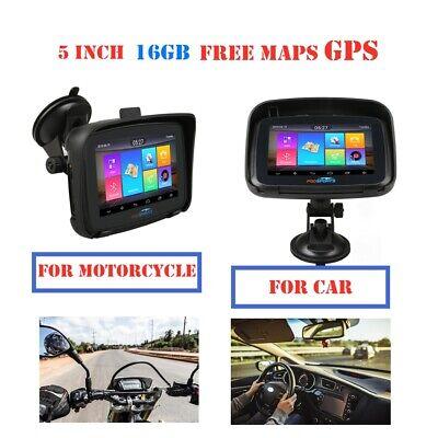 "5 ""Navigation GPS de moto 16G + 1G Android 6.0 Wifi Bluetooth Navigateur GPS"