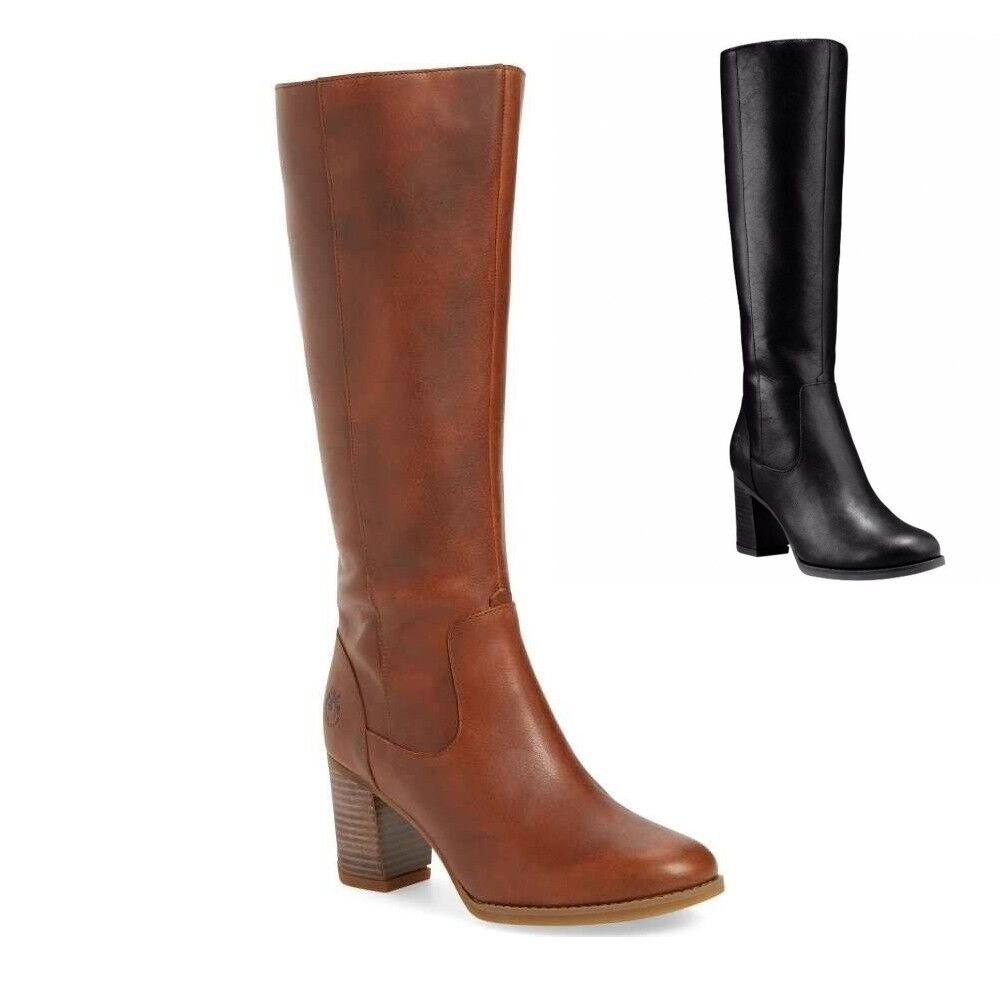 NWT Timberland Women's Atlantic Heights Tall Waterproof Boots Brown & Black New