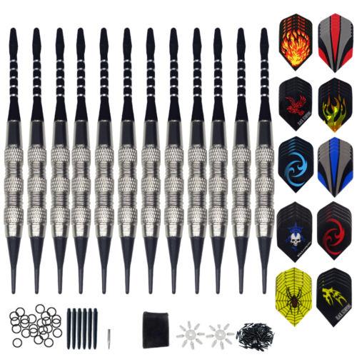 12 Stück Pfeile Darts Dartpfeile mit Kunststoffspitze 18 Gramm Soft Shafts TOP