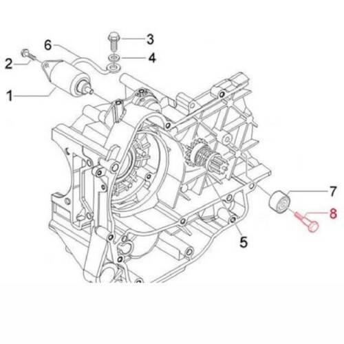 Piaggio pi829326 hex screw aprilia 300 sportcity cube