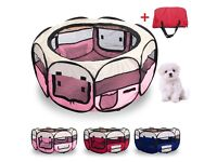 Pink puppy play pen £30