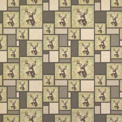 Deer Hunting Green Camouflage Kraft Present Gift Wrap Wrapping Paper - Camouflage Wrapping Paper