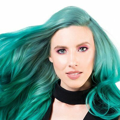 - Sparks Long Bright Hair Color Dye Ash Coloring Permanent Green - Totally Teal