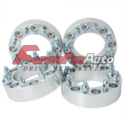 """4PC 2"""" 8x6.5 Wheel Spacers Adapters 14x1.5 studs for Chevy C2500/3500 GMC Trucks"""