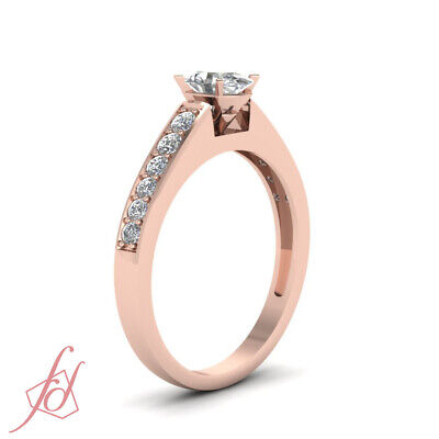 Pave Set 3/4 Ct Oval Shaped Conflict Free Diamond Engagement Ring GIA Certified 2