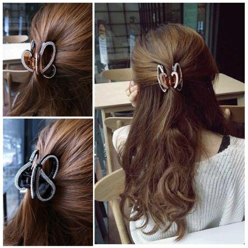Fashion Headdress Acrylic Jewelry Butterfly Hair Clip Full D