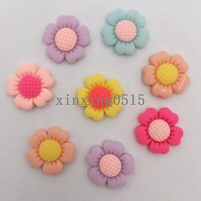 Sunflower Resin - DIY 20 pcs Resin hand painting sunflower Flatback stone/Children scrapbook craft