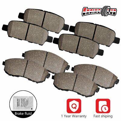 Front+Rear Disc Ceramic Brake Pads For 2010-2017 Chevrolet Equinox GMC Terrain