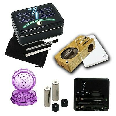 Magic Flight Launch Box Complete Wooden Click Lock Lid MFLB Vape & FREE Grinder on Rummage