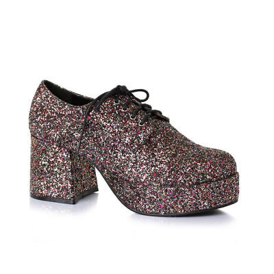 Ellie Shoes Glitter Glanz Gangster Disco 70s Jahre Tanzende Herren-Kostüm (Gangster Kostüm Schuhe)