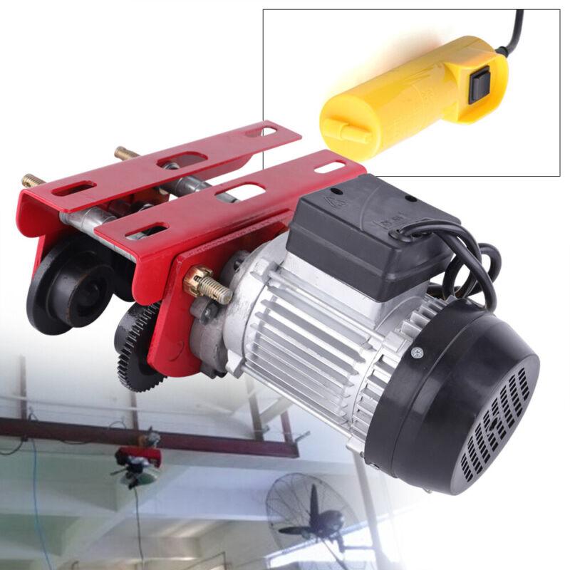 1100lbs Electric Overhead Motor Winch Hoist Lift Garage Crane with I-beam links