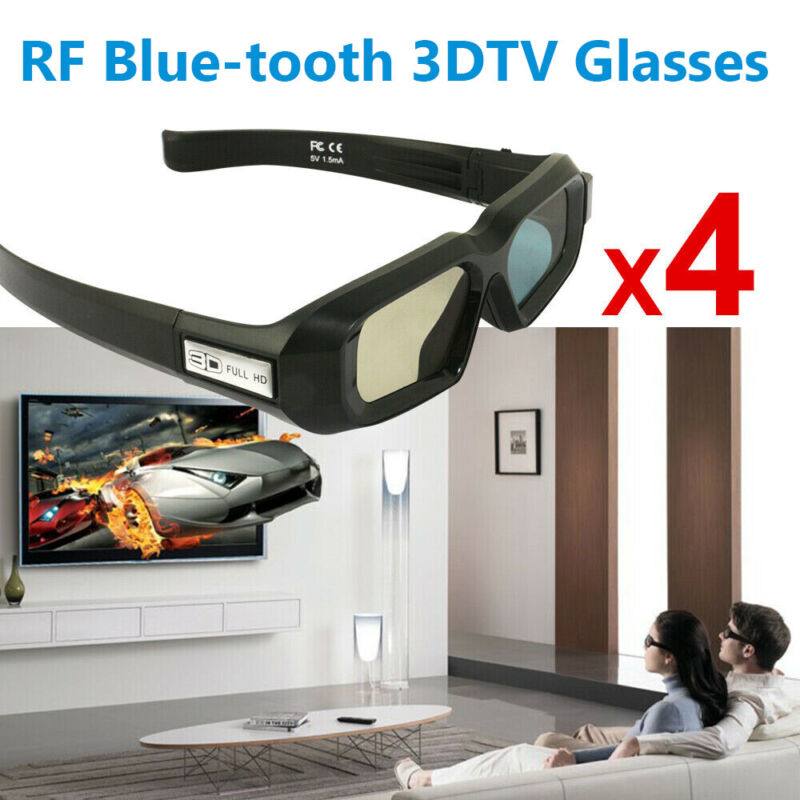 4x 3D Glasses Blue-tooth for Epson 3LCD Projector TW5210/5600/650 and 3DTV Sony