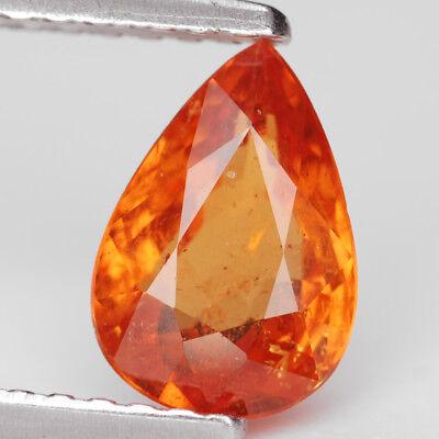 1.21 Ct. Charming Intense Color Orange Mandarin Garnet Gem WITH GLC CERTIFY Intense Mandarin Orange