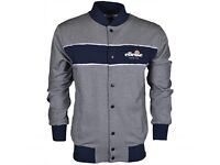 Ellesse Bonera Funnel Neck Dress Blues Button Down Sweatshirt Brand New