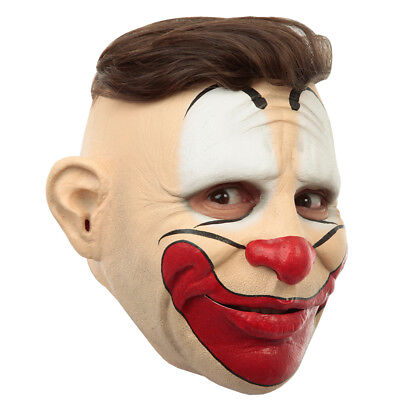 Adult Customizable Hairstyle Friendly Clown Latex Mask - Latex Clown