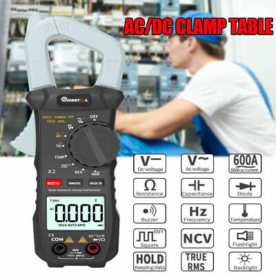 6000 Counts True Rms Clamp Meter Ac Dc Voltage Current Digital Multimeter