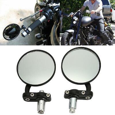 "2FastMoto Cafe Racer 7//8/"" Chrome Handlebar Black Bar End Mirror Seat Combo BMW"