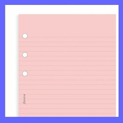 Filofax Pocket Size Pink Ruled Notepaper Insert Refill 213007