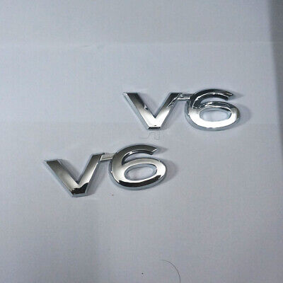 2x V8 Chrome Metal Emblem Sticker Badge Decal Racing 3D Limited Sports Car Coupe