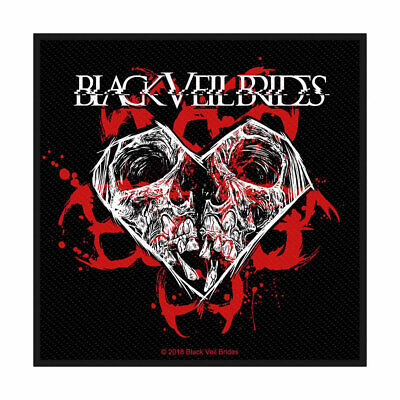 Black Veil Brides - Skull And Heart - Standard Patch