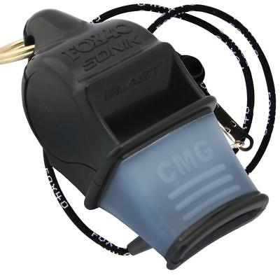 BLACK Fox 40 SONIK BLAST CMG Whistle Official Coach Safety Rescue FREE