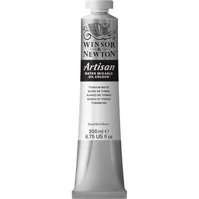 Winsor & Newton Artisan Water Mixable Oil Paint 200ml (Titanium White)