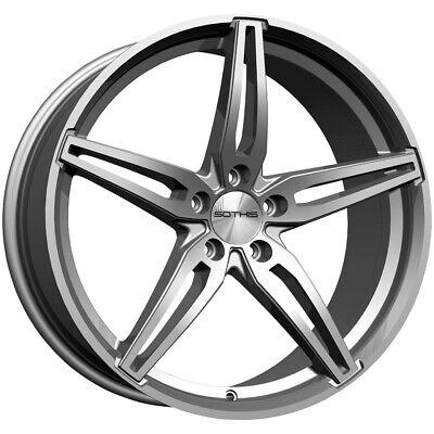 "4-Sothis SC108 18x7.5 5x4.5"" +35mm Gunmetal Wheels Rims 18"" Inch"
