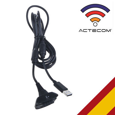 ACTECOM® CABLE DE CARGA PARA MANDO Y BATERIA CONSOLA XBOX 360 USB...