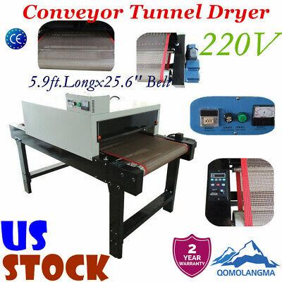 Us T-shirt Conveyor Tunnel Dryer 5.9ft Longx25.6 Belt 220v For Screen Printing