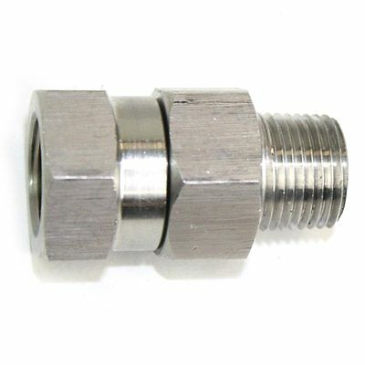 38 Mpt X 38 Fpt Stainless Steel Swivel Fitting - 4000 Psi - Pw7166