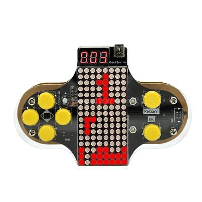 Upgraded Electronic DIY Game Console Kit V2 Soldering Practice Kit with L0D0