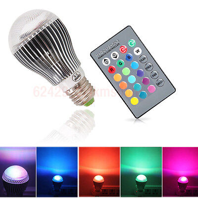 eBay - E27 RGB LED Lamp 9W 16 Colors Changing Magic Night Light Bulb IR Remote Control