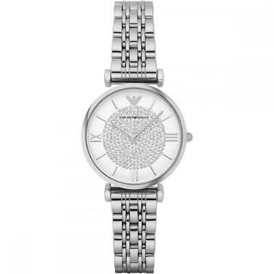 Ladies Silver Sparkle Emporio Armani Watch AR1925