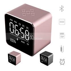 Portable Wireless Bluetooth 4.2 Stereo Speaker TF Card Audio Alarm Clock V9